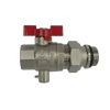 Valve with sensor connection for manifolds